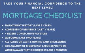 List of documents for mortgage