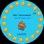 Pay off debt achievement
